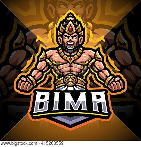 Bima Esport Mascot Logo Design With Text