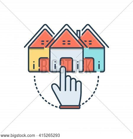 Color Illustration Icon For Choose-home Choose Home Opportunity Select Property Real-estate