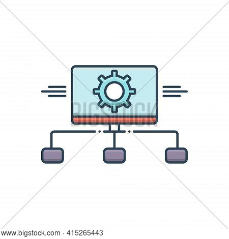 Color Illustration Icon For Task-analysis Task Analysis Representation