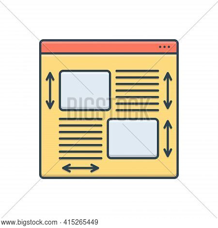 Color Illustration Icon For Style Guide Style-guide Banner Collection Branding