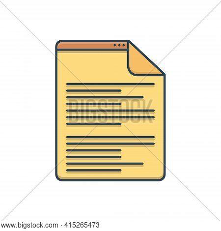Color Illustration Icon For Scenarios  Script Document Letter Manuscript Certificate