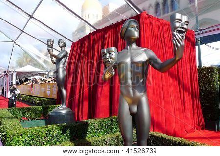 LOS ANGELES - JAN 27: Atmosphere, Statue  at the 19th Annual Screen Actors Guild Awards held at The Shrine Auditorium on January 27, 2013 in Los Angeles, California