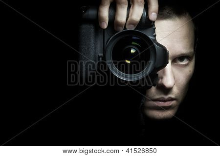 Photographer Taking Photo With Camera