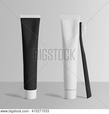 Collapsible makeup tube with design space for beauty brands