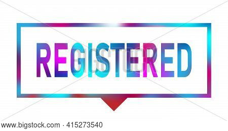 Neon Color Vector Banner Registered On White