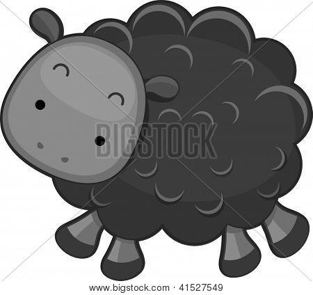 Illustration of a Black Sheep