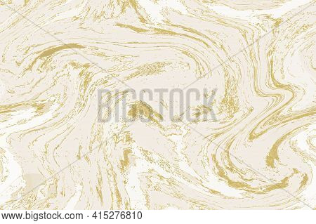 White And Gold Marble Background. Marbling Seamless Pattern. Abstract Stone Texture. Good For Wallpa