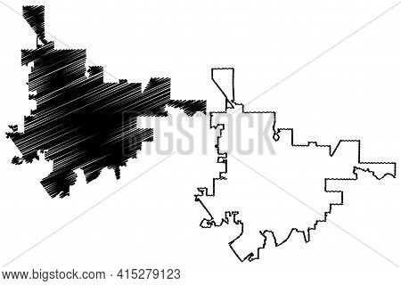 Gainesville City, Florida (united States Cities, United States Of America, Usa City) Map Vector Illu