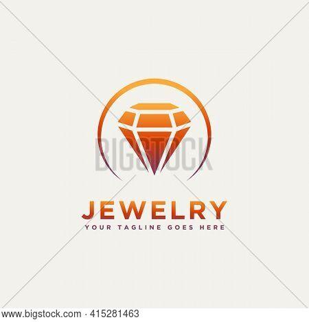 Jewelry Minimalist Modern Logo Template Vector Illustration Design. Simple Unique Boutique, Weeding,
