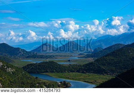 Green Pyramid, A Mountain On The Crnojevich River Or Black River, Near The Shores Of Lake Skadar. Mo