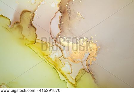 Vibrant Abstract Background Liquid. Alcohol Inks Splash. Multicolor Flow Mix. Art Marble Design. Abs
