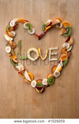 Valentine Love Heart! - Fruity, Fresh, Healthy! 5-a-day!