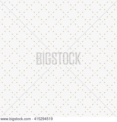 Golden Minimalist Vector Seamless Pattern. Subtle Minimal Geometric Texture. Simple Gold And White A