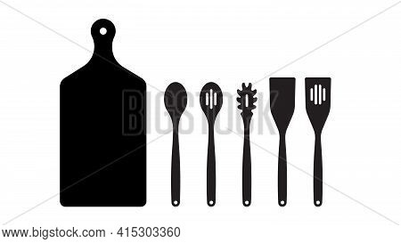 Kitchen Utensils: Baking Spatula, Skimmer Spoon, Scraper, Serving And Spaghetti Spoon, Vegetable Woo