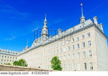 View Of The Historic Seminaire De Quebec Building In Quebec City, Quebec, Canada
