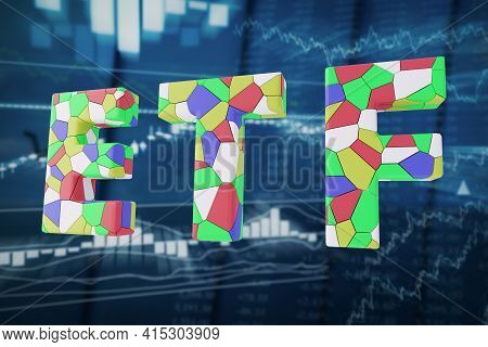 Exchange-traded Fund Concept 3d Illustration. Etf Is A Type Of Investment Fund And Exchange-traded P