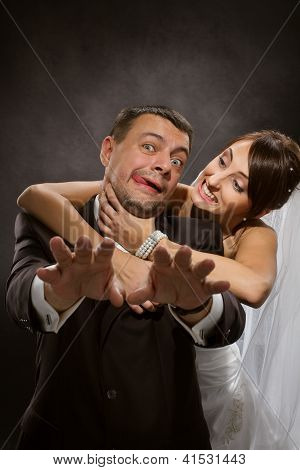 Married Couple Angry Quarreling And Fighting