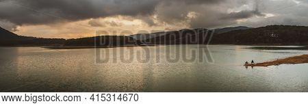Amazing view of Tuyen Lam Lake, Dalat, Vietnam. Panorama
