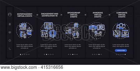 Online Meeting Kinds Onboarding Vector Template. Responsive Mobile Website With Icons. Web Page Walk