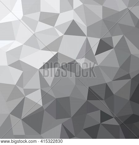 Abstract Grey Tone Triangle Low Polygon Geometric Background Texture Vector Illustration.