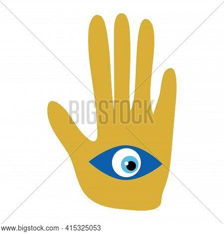 Ornate Hamsa, Amulet Against The Evil Eye And Spoilage. Popular Arabic And Jewish Amulet. Mystic, Al