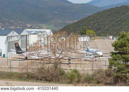 La Seu De Urgell, Spain: April 2021 02:  Airport Andorra  - La Seu De Urgell On A Sunny Day In Sprin