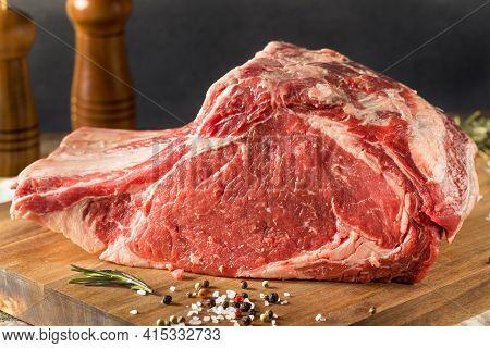 Raw Red Prime Rib Roast