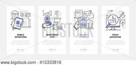 Finance Management - Modern Line Design Style Web Banners
