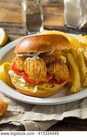 Homemade Fried Shrimp Sandwich
