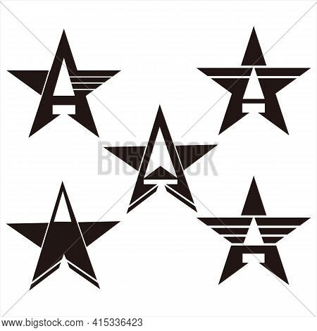 Star Icons, Eps10 Star Icons, Star Vector Icons, Star Icon Set Isolated On Exposed Background, Star