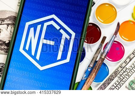 A Nft (non-fungible Token) Is A Special Crypto Token That Uses Blockchain Technology To Link With A