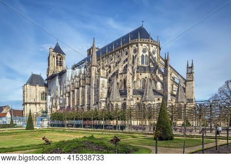 Bourges Cathedral Is A Roman Catholic Church Located In Bourges, France.