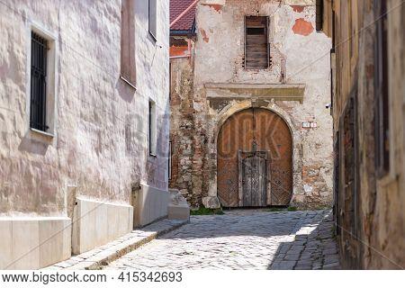 Bratislava. Slovakia. Summer 2019. Historical Center Of Bratislava. Old City Without People. Medieva