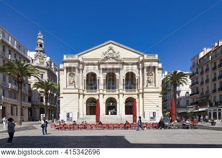 Toulon, France - March 24 2019: The Toulon Opera (french: L'opéra De Toulon), Is The Second-largest