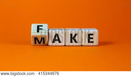 Fake It Until You Make It Symbol. Turned A Cube And Changed The Word 'fake' To 'make'. Beautiful Ora