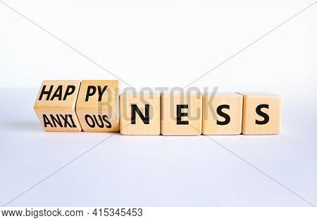 Happyness Or Anxiousness. Turned Cubes And Changed The Word 'anxiousness' To 'happyness'. Beautiful