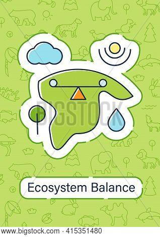 Ecosystem Balance Brochure.requires Sustainable Interdependence Of Plants, Animals.flyer, Magazine,