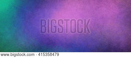Decorative Blue Magenta Green Blended Simple Homogeneous Art Background, Decor Base, With Light Text
