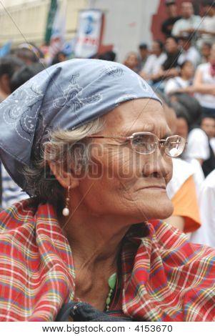 Sad Face Of An Old Women