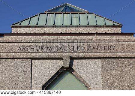 Washington Dc, Usa, 11-02-2020: Exterior View Of Arthur M. Sackler Galery, Part Of The Museum Of Asi