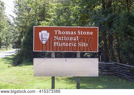 Charles County, Md, Usa 09/19/2020: Us National Historic Site At The Location Of The Colonial Era Fa