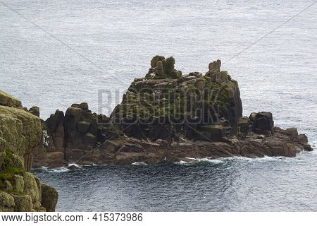 At The Rocky Atlantic Coast Of Cornwall, There Are Numerous Promontories With Scenic Rock Formations