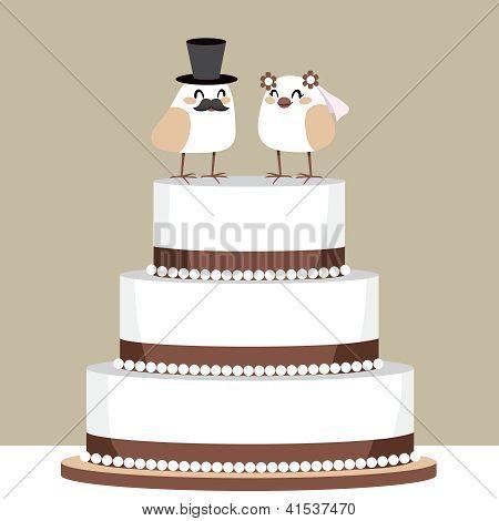 Birds Love Wedding Cake