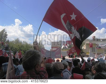 09/02/2010 Mersin, Turkey: A Political Rally Organized By The Leading Opposition Party (republican P