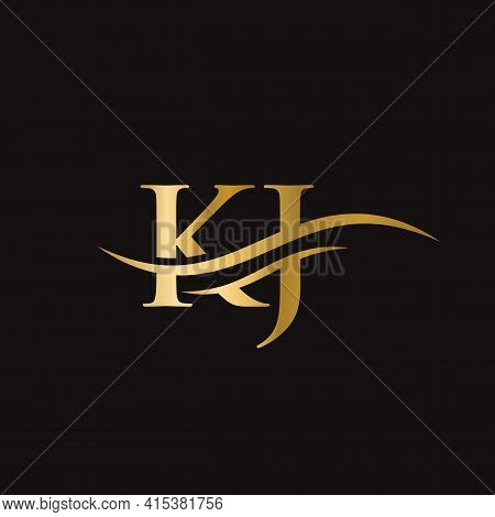Modern Kj Logo Design For Business And Company Identity. Creative Kj Letter With Luxury Concept.
