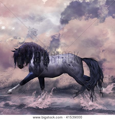 Fantasy Horse Greeting Card / Background
