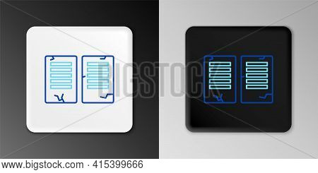 Line The Commandments Icon Isolated On Grey Background. Gods Law Concept. Colorful Outline Concept.