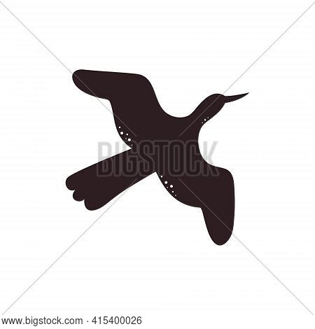 Bird Silhouette - Vector Illustration Isolated On White Background