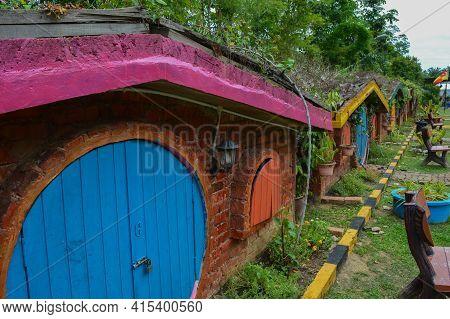 Kuala Selangor,malaysia:, April 2nd 2021- The Hobbit Houses Located In Kuala Selangor, Malaysia. Sel