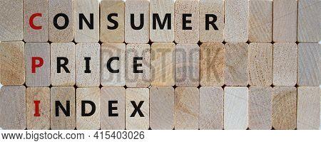 Cpi, Consumer Price Index Symbol. Wooden Blocks With Words 'cpi, Consumer Price Index'. Beautiful Wo